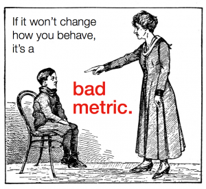 "Don't Be Stuck With ""Bad Metrics"" For Your Content Marketing Campaign..."